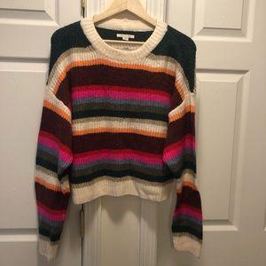 NWT American Eagle Multi-striped Cropped Sweater